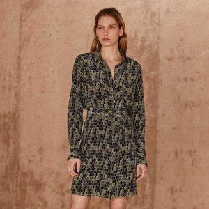 NWT Equipment Silk Edwidge Geometric Print Dress